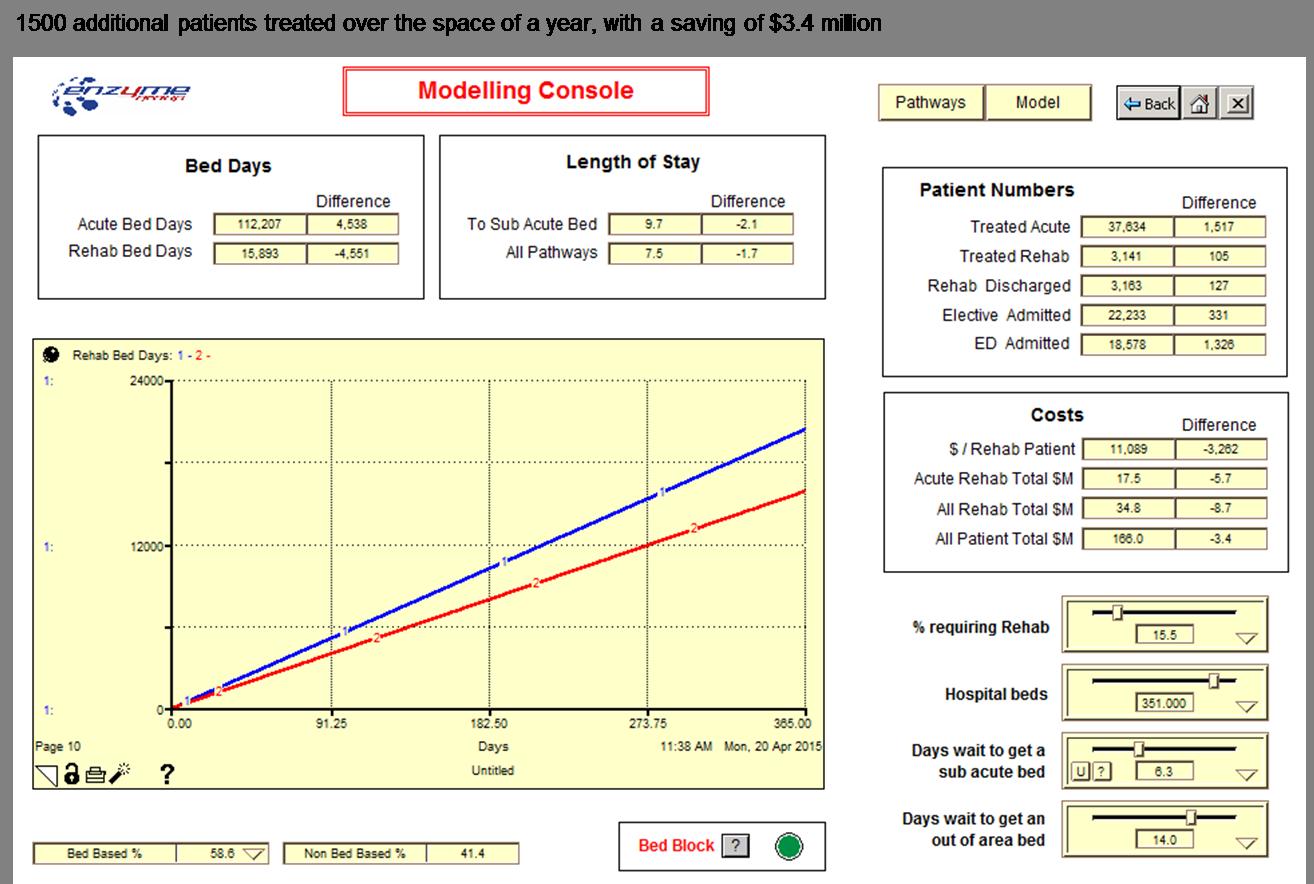 Rehab patient flow results